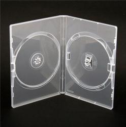 CUSTODIA DVD AMARAY DOPPIA 14mm Trasparente Alta Qualità