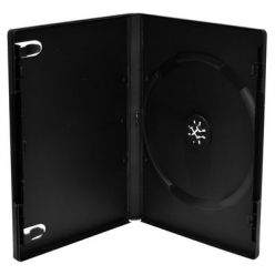 CUSTODIA DVD SINGOLA 14mm NERA SATINATA ALTA QUALITA BOX11-M