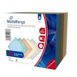 MediaRange CUSTODIA SLIM Morbida Colorata Per 1 CD, DVD o BD PPcase Confezione da 20 Pezzi