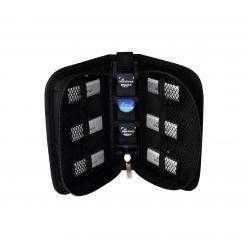 MediaRange Custodia per 6 USB Flashdrives e 3 SD Memory Cards, nylon, nero