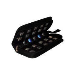 CUSTODIA 10 USB FLASHDRIVE e 5 SD Memory Cards, Nylon, Nero BOX99