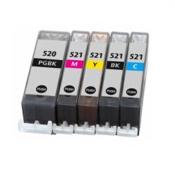 Cartuccia compatibile PGI 520 BK Nero stampante Canon PIXMA MP630 MP638 MP980 MP990 MX860 MX870 PGI520 CLI521