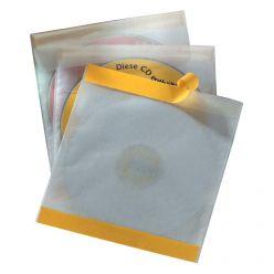 Confezione da 10 Bustine PVC Adesive con Aletta D-5210