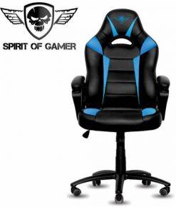 SEDIA GAMING SPIRIT OF GAMER FIGHTER COLORE NERO BLU SOG-GCFBL