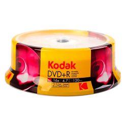 Kodak DVD+R 4.7GB 120min 16x in Campana da 25 Pz K1310325