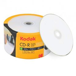 Kodak CD-R Stampabili Inkjet White Printable 700MB 80min 52x in cellofan da 50 Pz K1230150