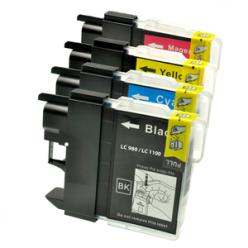 Cartuccia compatibile LC980/1100 BK Nero stampante Brother DCP 145C 165C 195C 365CN MFC 375CW 250C 255CW 290C 295CN LC980