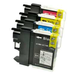 Cartuccia compatibile LC980/1100 M Magenta stampante Brother DCP 145C 165C 195C 365CN MFC 375CW 250C 255CW 290C 295CN LC980