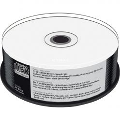 MEDIARANGE CD-R 52x (BLACK) FULL Inkjet Printable MR241