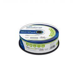 DVD-R 16x 4.7GB Stampabili Inkjet FULLFACE Printable Mediarange In Campana da 25 MR407