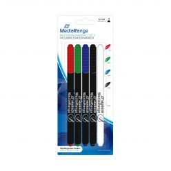 MediaRange confezione da 5 pennarelli per cd/dvd e memory cards
