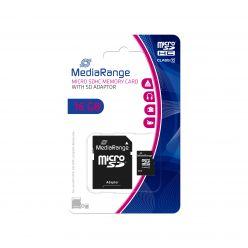SCHEDA MICRO SDHC 16GB C10 ADATTATORE SD MediaRange MR958