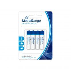 MediaRange premium batterie alcaline AAA PILE MINISTILO LR03 1.5v pack 4 pz MRBAT101
