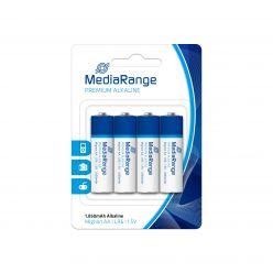 MediaRange premium batterie alcaline AA PILE STILO LR06 1.5v pack 4 pz MRBAT104