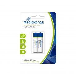 MediaRange batterie ricaricabili Alta Capacità Ricaricabile NiMH Acus AAA PILE MINISTILO HR03 1.2v pack 2 pz