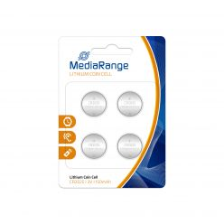 MediaRange Batterie al Litio Coin Cells PILE BOTTONE CR2025 3v Pack 4 pz