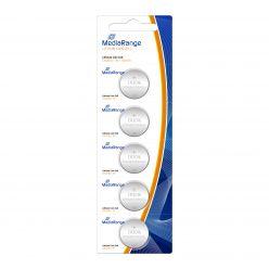 MediaRange Batterie al Litio Coin Cells PILE BOTTONE CR2016 3v Pack 5 pz