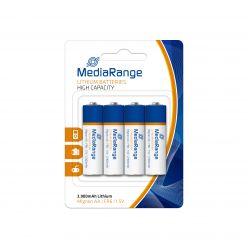 MediaRange Batterie al Litio AA PILE STILO FR06 1.5v pack 4 pz