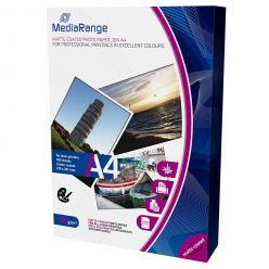 Carta Fotografica Mediarange Laser Opaca formato A4 120g mrink106 100 Fogli