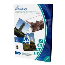 MediaRange Carta Fotografica Glossy Lucida Formato A4 160g Due Lati 50Fogli MRINK108
