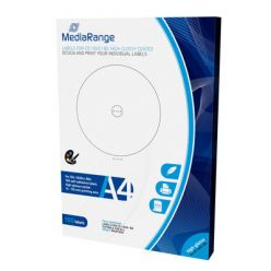 ETICHETTE STAMPABILI PER CD/DVD/BD GLOSSY LUCIDE 15-118mm 100PZ MRINK132