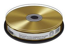 CD-R PROFESSIONALI PLACCATI ORO CAMPANA 10PZ MRPL510