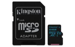 SCHEDA MICRO SDXC 64GB CANVAS GO U3 GOLD UHS-I KINGSTON SDCG2/64GB