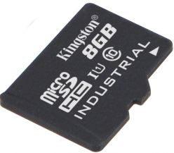 SCHEDA MICRO SDHC 8GB KINGSTON INDUSTRIAL, UHS-I Speed Class1 (U1), SDCIT/8GB CON ADAT. SD