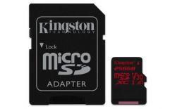 SCHEDA MICRO SDXC 256GB CANVAS REACT U3 UHS-I 100/80MB/s KINGSTON SDCR/256GB