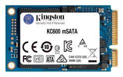 SSD KINGSTON mSATA 512GB KC600, SATA 3.0, 550/520 MB/s, 3D TLC NAND