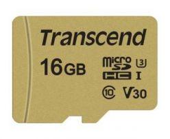 SCHEDA MICRO SDHC 16GB 95/60MB/s MLC C10 UHS-I Speed Class 3 (U3) V30 adattatore TS16GUSD500S