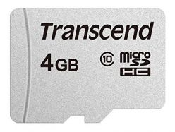 SCHEDA MICRO SDHC 4GB C10 UHS-I 95/45MB/s TRANSCEND TS4GUSD300S