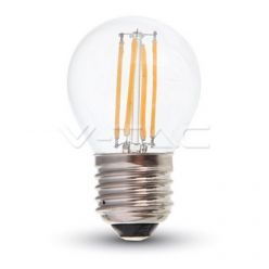LAMPADINA LED V-Tac E27 4 WATT = 40 WATT BULB MINIGLOBO G45 FILAMENTO VT-1980